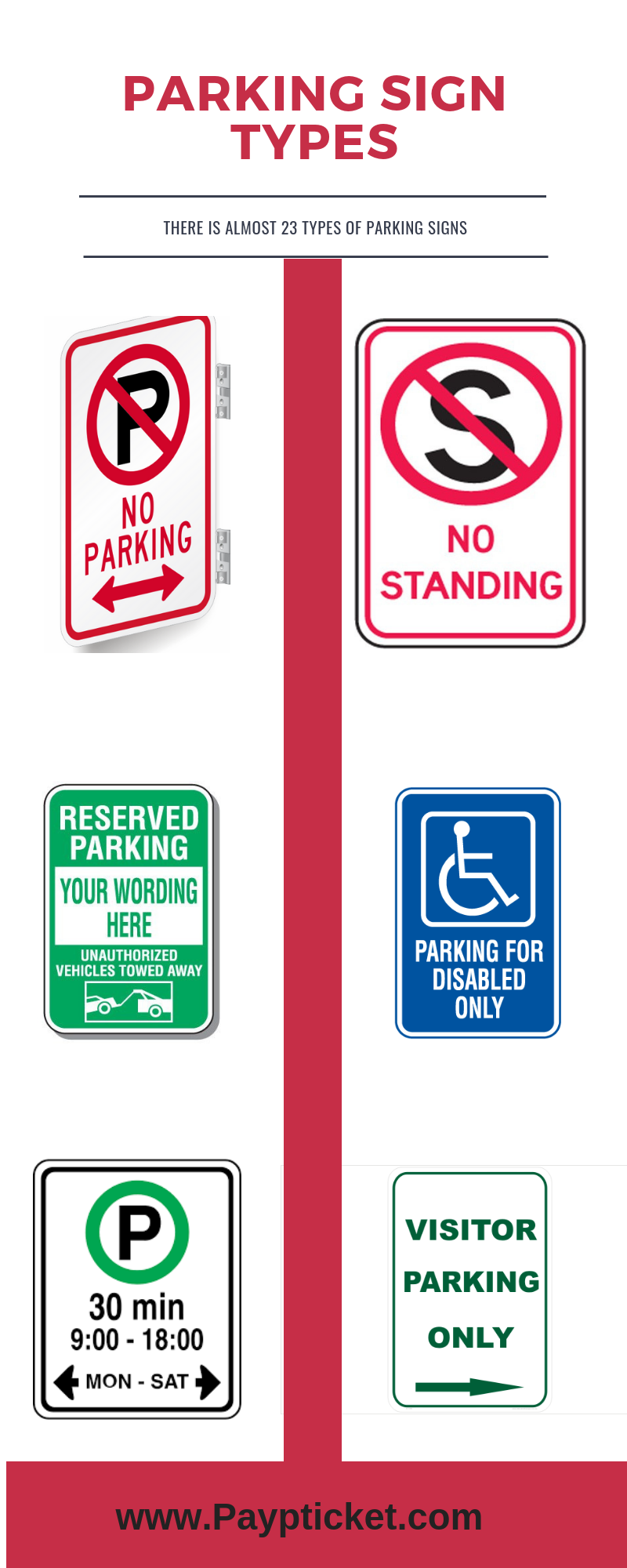 No Parking Signs Types
