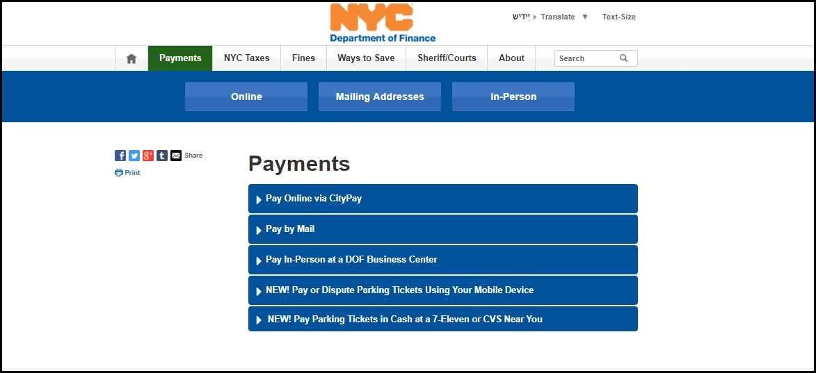 pay nyc parking ticket